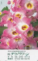 Télécarte Japon / 110-011 - Fleur ORCHIDEE - ORCHID Flower Japan Phonecard - Blume TK ** TECHNOGREEN ** - ORQUIDEA - 998 - Blumen