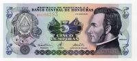 Honduras 5 Lempiras 2001 Pick 85b Circulated Vf - Honduras