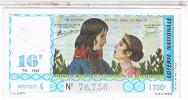 Billets De Loterie...     COUPLES CELEBRES  NAPOLEON 1959 ..  ....LO334 - Billets De Loterie