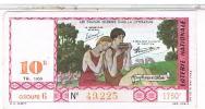 Billets De Loterie...     COUPLES CELEBRES  DAPHNIS CHLOE 1959 ..  ....LO335 - Billets De Loterie