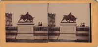 Liège Terrasses Statue Taureau - Photos Stéréoscopiques