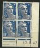 """Coins Datés YT 719B """" Marianne De Gandon 5F. Bleu """" 1945-47 - Coins Datés"""