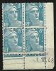 """Coins Datés YT 810 """" Marianne De Gandon 8F. Bleu Clair """" 1948 - Coins Datés"""