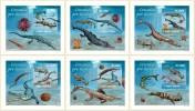 SAO TOME & PRINCIPE - Prehistoric Marine Life. OFFICIAL Deluxe Sheets - Maritiem Leven