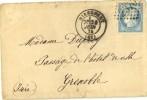 N° 60 - Cachet Type 17 - GC 2370 - Mirecourt Vers Grenoble  - 24 Juin 1874 - Poststempel (Briefe)