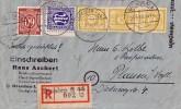 Ost-Sachsen R-Brief Mif Minr.3x 55,Gemeina.933,AM-Post 9 Dresden 2.8.46 - Sowjetische Zone (SBZ)