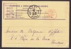 Belgium CLOUTERIE & TRÉFILERIE DES FLANDRES Meter Stamp Card GENT - GAND 1928 (2 Scans) - Belgien