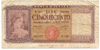 500 Lire Italia 23/03/1961 (NON COMUNE) - 500 Lire