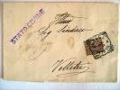 GENZANO DI ROMA - STORIA POSTALE 1907 ATTO DI MORTE ALL'INTERNO TIMBRO MUNICIPIO VELLETRI - Velletri
