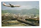 CHINE  /  HONG-KONG  /  TSOIHUNG  ROAD  AND  CIVIL  AVIATION  BUILDING  WITH  BUSY  TRAFFIC  ( Avion JAPAN AIRLINES ) - China (Hong Kong)