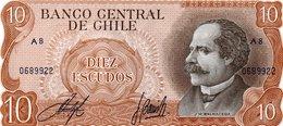 CHILE 10 Escudos 1967 UNC See Scan - Chili