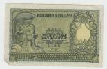 ITALY 50 Lire 1951 VF++ P 91a 91 A - [ 2] 1946-… : Républic