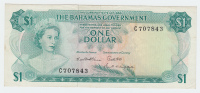 BAHAMAS 1 DOLLAR ND 1965 AXF P 18b 18 B - Bahamas