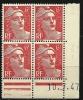 """Coins Datés YT 721A"""" Marianne De Gandon 6F. Rose Carminé """" 1945-47 Neuf - Coins Datés"""