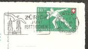Fischstube Vom Landi-Dörfli Zürichhorn Briefmarke ! 1950 - ZH Zurich