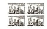 N° 1235 épreuve En Noir Bloc De 4 Issue De Poinçons Originaux Conservés Au Musée De La Poste Net 5.50 € - Luxusentwürfe