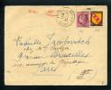 =*= Mazelin 679+blason 757 Sur Lettre Tarif Imprimés Asnieres Chanzy>>>>Paris 26 7 1947 - Verso: Rabat Absent =*= - France