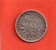 RARE ET EN CET ETAT---50 Centimes SEMEUSE ARGENT 1905---ETAT : TTB +++ - France