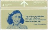 ANNE FRANK On Phonecard The Netherlands In Mint (R-24) Cat.Value Euro 80,00 - Characters