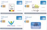 Reeks 4 Kaarten Belgacom ( Gebruikt,Utilisée) - Belgique