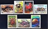 TANZANIE:  B1695/1701 Crabes (neuf Sans Charniere)** - Tanzanie (1964-...)