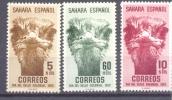 1952. Spain Sahara, Ostrich, 3v, Mint/** - Straussen- Und Laufvögel