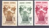1952. Spain Sahara, Ostrich, 3v, Mint/** - Autruches