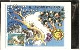ITALIA - ITALY - MAXICARD -  MAXIMUM  - FDC 1997  IL LAVORO ITALIANO GIORNO DI EMISSIONE - Cartoline Maximum