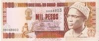 BILLETE DE GUINEA BISSAU DE 1000 PESOS DEL AÑO 1990  (BANK NOTE) NUEVO SIN CIRCULAR - Guinea–Bissau