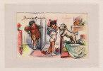 BOURET Germaine / BONNE ANNEE / Mini Carte 7 X 11 Cm / Sans Légende  (carte Authentique) - Bouret, Germaine