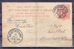 Ganzsache, P 26 Koenigin Victoria, London Nach Neustadt Hardt, AK-Stempel 1898 (41344) - Briefe U. Dokumente