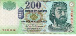 200 FORINT BUDAPEST HUNGARY BANKNOTE 2004 Vedi Foto - Hongarije