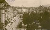 ST.GALLEN- MARKTPLATZ MIT TRAMS 1930 ++++ S/w Foto-Karte - SG St. Gall