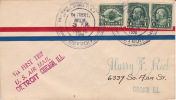 1926  First Contract Air Mail Service Detroit - Chicago CAM 6  Sc C4 + 2 Imperf 575 - Air Mail
