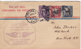 1927  Chicago - Cincinnati First Flight  Sc  620-1 (Norse Issue) + Imperf 3 ¢  Backstamps - Air Mail