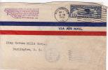 1928  New York - Atlanta Route  Richmond VA To  Burlington NC  Greensboro NC And Burlington Backstamps - Air Mail