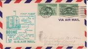 1949  First Flight Minneapolis - Omaha From Boone IO  AM 90 - Air Mail