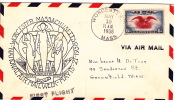 1938 National Air Mail Week  Worcester Mass  Cover - Air Mail