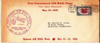1938 National Air Mail Week  Souvenir Cover Palmer Mass - Air Mail