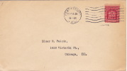1929  Fallen Timbers  Sc 680  Perrysburg OH Cancel  On Plain Cover - First Day Covers (FDCs)