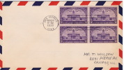 1938  Iowa Territory  Centennial   Sc 838 Block Of 4 - First Day Covers (FDCs)
