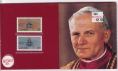 1984 Papal Visit Setin Presentation Folder -  Visite Papale  Série En Livret De Présentation  Jean-Paul II - 1952-.... Règne D'Elizabeth II