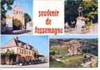 24210 Souvenir De FOSSEMAGNE - L'église, Monument, Hôtel Négrier, Vue Aérienne - Autres Communes
