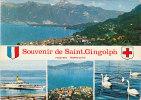 74 Souvenir De Saint Gingolph Cpm Multivue 2 C  Au Chamois - Other Municipalities
