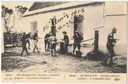 Série En  Belgique    Soldat Anglais    Devant Une Ferme Suspecte - Collections