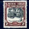 Niue 1938 George VI 2/- Black & Red-brown, Hinged Mint (A) - Niue