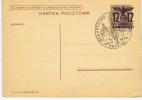 Generalgouvernement 20-4-1940 Geburtstag Hitler Stempel, 12 Pf Auf 15 Gr Braun
