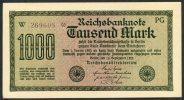 Pick 76d-Ro 75k - 1000 Mark 15/9/1922 UNC N°W 269608 PG - [ 3] 1918-1933 : République De Weimar