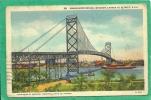 AMASSADOR BRIDGE, WINDSOR CANADA TO DETROIT, U.S.A.   D 11 - Detroit