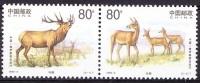 China 1999 Yvert 3675 / 76, Fauna, Deers, MNH - 1949 - ... People's Republic